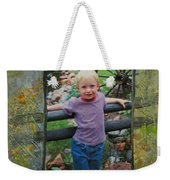 Boy By Fence Weekender Tote Bag