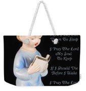 Boy Childs Bedtime Prayer Weekender Tote Bag