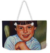 Boy In Blue Shirt Weekender Tote Bag