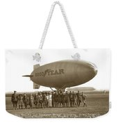 Boy Scouts And Goodyear Blimp Guarding Graf Zeppelin Los Angeles Airport Aug. 26 1929 Weekender Tote Bag