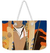 Boy Warrior With Two Borzoi Hounds Weekender Tote Bag