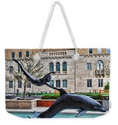 Boy With A Dolphin Weekender Tote Bag