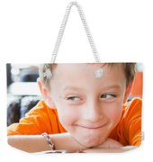 Boy With Donut Weekender Tote Bag