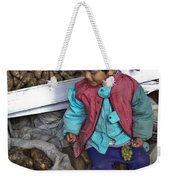 Boy With Grapes - Cusco Market Weekender Tote Bag