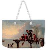 Boys Crabbing Weekender Tote Bag