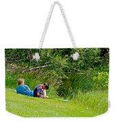 Boys Fishing In Pipestone National Monument-minnesota Weekender Tote Bag