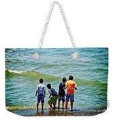Boys On The Beach Weekender Tote Bag
