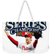 Brad Lidge Ws Champs Logo Weekender Tote Bag