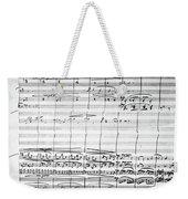 Brahms Manuscript, 1880 Weekender Tote Bag