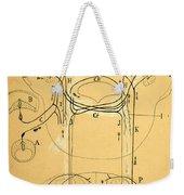Brain Vestibular Sensor Connections By Cajal 1899 Weekender Tote Bag
