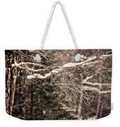Branch In Forest In Winter Weekender Tote Bag
