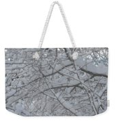 Branched Snow Weekender Tote Bag