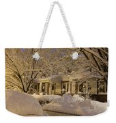 Branches And Snow Mounds Weekender Tote Bag