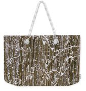 Branches And Twigs Covered In Fresh Snow Weekender Tote Bag