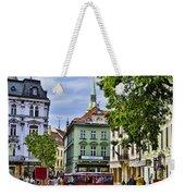 Bratislava Town Square Weekender Tote Bag by Jon Berghoff
