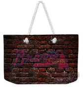 Braves Baseball Graffiti On Brick  Weekender Tote Bag