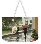 Braving The Rain Weekender Tote Bag