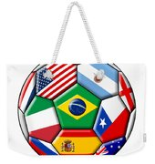 Brazil 2014 - Soccer With Various Flags Weekender Tote Bag
