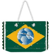 Brazil Flag Like Stamp In Grunge Style Weekender Tote Bag