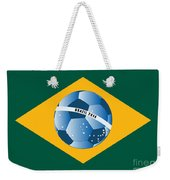 Brazil Flag With Ball Weekender Tote Bag