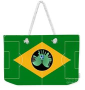 Brazilian Football Field Weekender Tote Bag