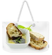 Bread Olive Oil And Vinegar Weekender Tote Bag by Elena Elisseeva