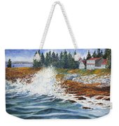 Breakers At Pemaquid Weekender Tote Bag