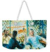 Breakfast By The River Weekender Tote Bag by Pierre-Auguste Renoir