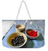 Breakfast In Red White And Blue Weekender Tote Bag