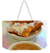 Breakfast Of Champions At Cafe Du Monde Weekender Tote Bag