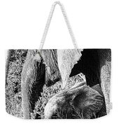 Breakfast With Mother Black And White Weekender Tote Bag