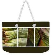 Breeze - Banana Leaf Triptych Weekender Tote Bag