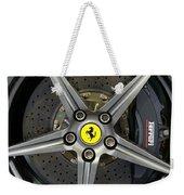 Brembo Carbon Ceramic Brake On A Ferrari F12 Berlinetta Weekender Tote Bag