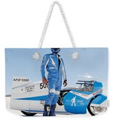 Brett De Stoop And His Suzuki Gt 750 Weekender Tote Bag