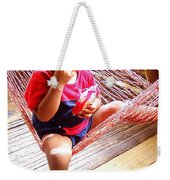 Bribri Indian Child In A Hammock Weekender Tote Bag