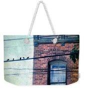 Brick Building Birds On Wires Weekender Tote Bag