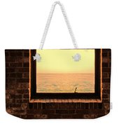 Brick Window Sea View Weekender Tote Bag