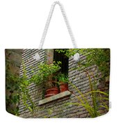 Brick With Greenery Weekender Tote Bag