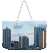 Brickell Key And Miami Skyline Weekender Tote Bag