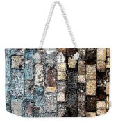 Bricks Of Turquoise And Gold Weekender Tote Bag