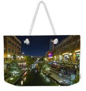 Bricktown Canal Vertical Weekender Tote Bag