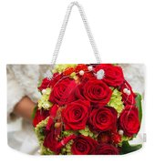 Bridal Bouquet With Red Roses Weekender Tote Bag