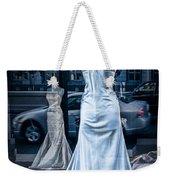 Bridal Dress Window Display In Ottawa Ontario Weekender Tote Bag