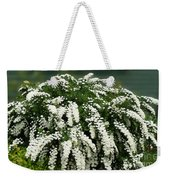 Bridal Wreath Spirea - White Flowers - Florist Weekender Tote Bag