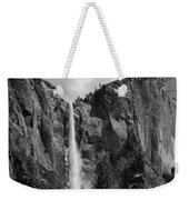 Bridalveil Falls In B And W Weekender Tote Bag by Bill Gallagher