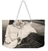 Bride And Daughter Kiss In Jackson Square New Orleans Weekender Tote Bag