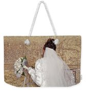 Bride At The Wall Weekender Tote Bag