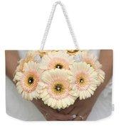 Bride Holding Gerbera Bouquet Weekender Tote Bag
