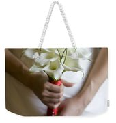 Bride With Lily Bouquet Weekender Tote Bag