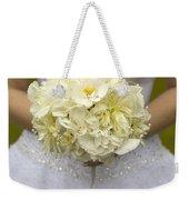 Bride With Wedding Bouquet Weekender Tote Bag